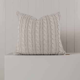 Hipi Cable Rib Cushion Cover Square - NATURAL