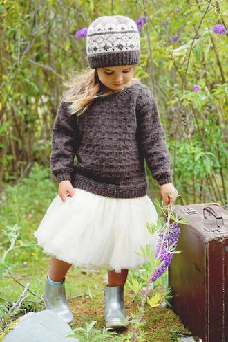 Little Cupcakes Avery Sweater and Hat 8ply