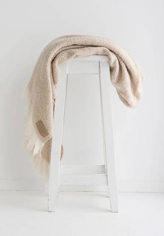 Wool Twill Blanket - Driftwood