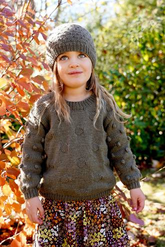 Little Cupcakes Olive Sweater and Hat 8ply