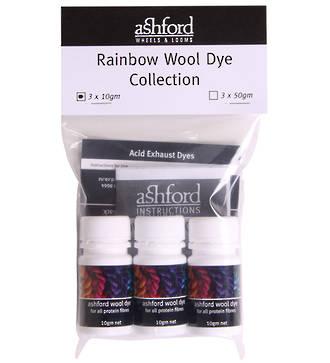 Ashford Wool Dye - Rainbow Set