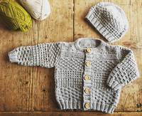 Baby Cakes Austin Cardi and Beanie 8ply