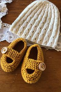 Baby Cakes Princess Nova Hat and Shoes 8ply