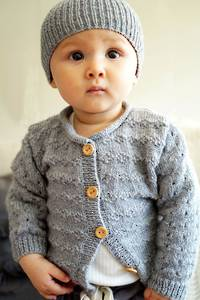 Baby Cakes Clementina Cardi and Hat 4ply