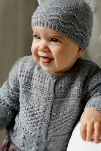 Baby Cakes Frankie Cardi and Hat 4ply