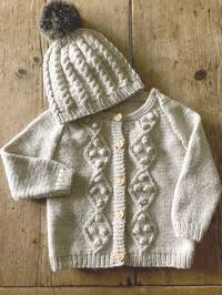 Baby Cakes Riley Cardi and Hat  8 ply