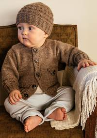 Baby Cakes Boston Cardi and Beanie 8ply