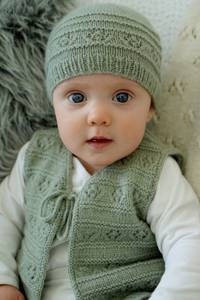 Baby Cakes Faith Vest and Hat 4ply