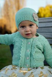 Baby Cakes Imogen Cardi and Hat 8ply