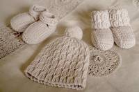 Baby Cakes Scout Beanie with Shoes 8ply