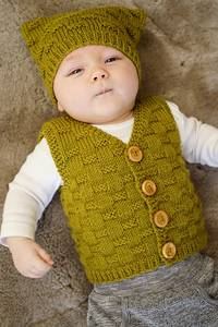 Baby Cakes Theodore Vest and Hat 8ply