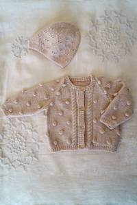 Baby Cakes Bowie Cardi and Hat Pattern 4 ply