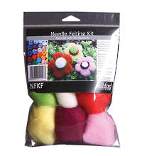 Ashford Wool Felting Kit - Flowers