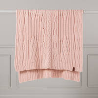 Hipi Lambswool Sampler Throw - Soft Pink