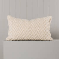 Hipi Herringbone Cushion Cover Long - Natural
