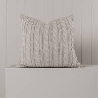 Hipi Cable Rib Cushion Cover Square - Grey