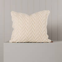 Hipi Herringbone Cushion Cover Square - Natural