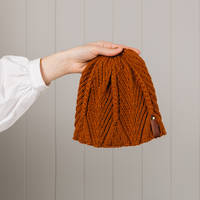 Hipi Feather & Fan Hat - Tobacco 1