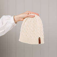 Hipi Cable Hat - Natural Size 3