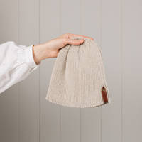 Hipi Twisted Rib Hat - Oatmeal Size 1