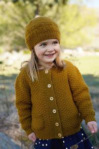 Little Cupcakes Rowan Cardi and Hat 8ply