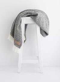 Wool Twill Blanket - Grey