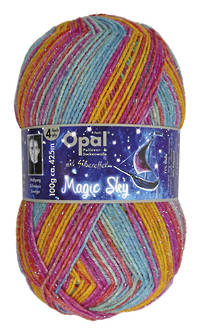 Opal Sock Print - Magic Sky 9805