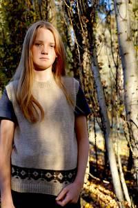 Lisa F Rosalee Vest Pattern - 8ply