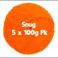Snug DK - Orange 5 x 100gm Pk
