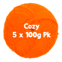 Cozy 4ply Orange 5 x 100gm Pk