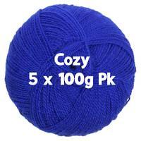 Cozy 4ply Indigo 5 x 100gm Pk