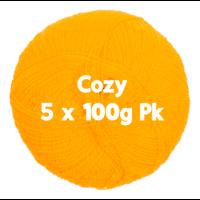 Cozy 4ply Yellow 5 x 100gm Pk