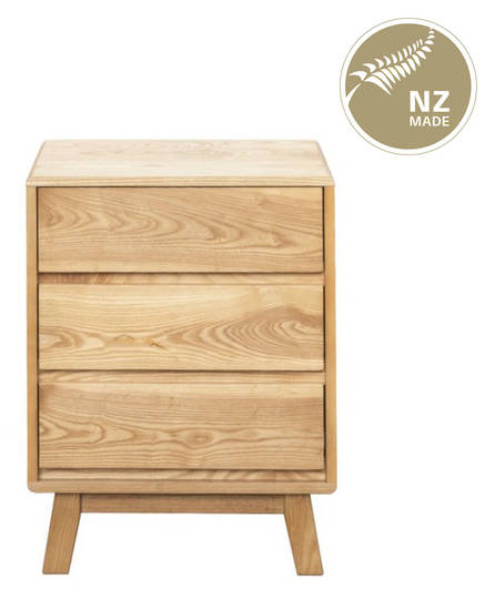 Arco 3 Drawer Bedside