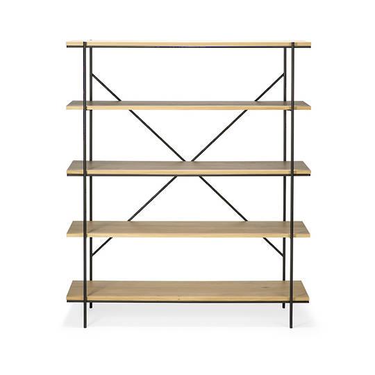 Ethnicraft Rise Bookcase-Ok/Bk