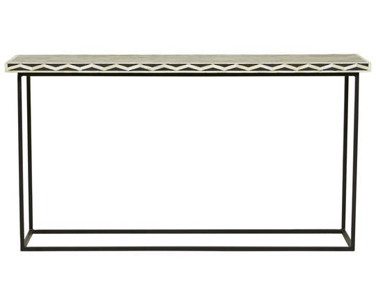 Taj Herringbone Bone Console