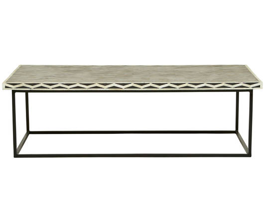 Taj Herringbone Bone Coffee Table