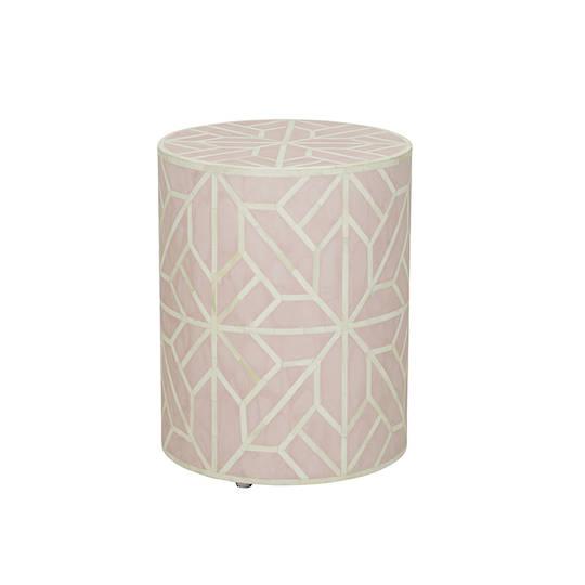 Taj Bone Inlay Geometric Side Table