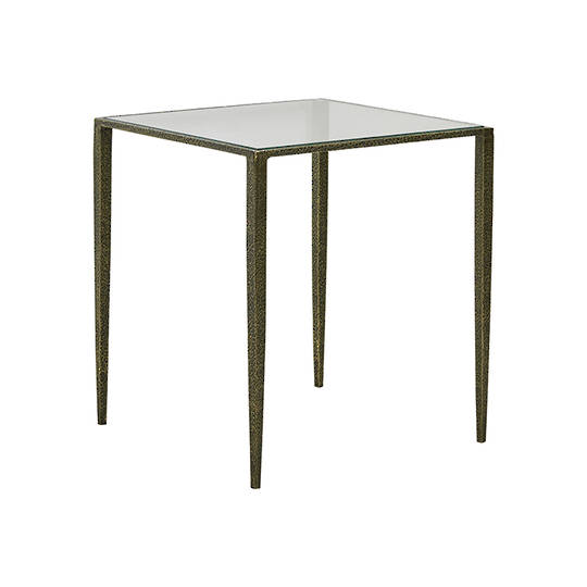 Aurelia Glass Side Table-Brass