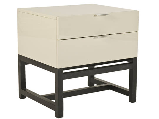 Axiom Bedside 2 Drawer Lacquered