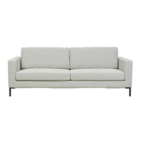 Juno 3 Seater Sofa with Black Powder Coated Legs