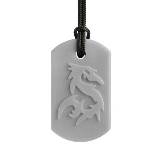 ARK's Dragon Bite® Chew Necklace Light Grey (Standard)