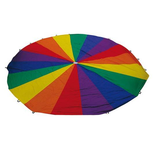 Rainbow Parachutes - 4m diameter - 12 handle