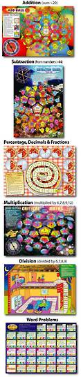 6  Maths Board Games Pack 2