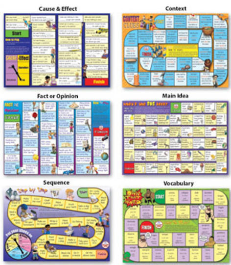 6 Reading Comprehension Board Games - Level 1