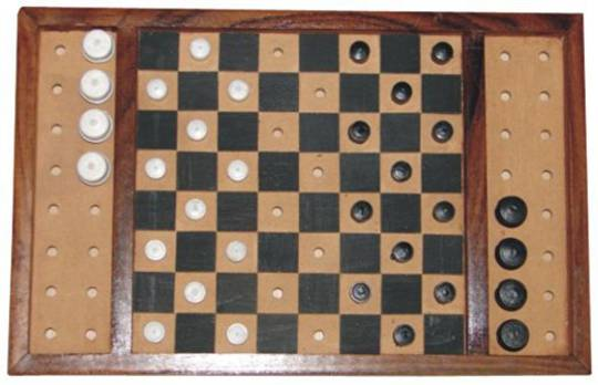 Checkers Set, Classic (Tactile)