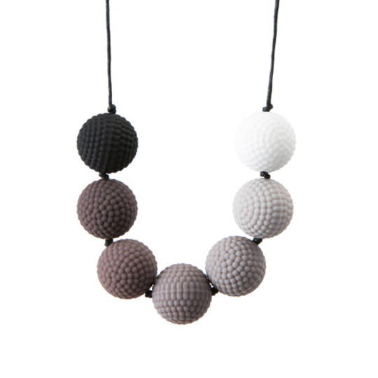 Chewigem Necklace - Berries Monochrome