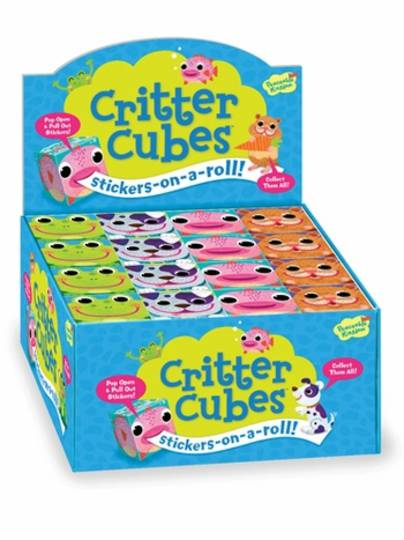 Criter Cubes Stickers-on-a-roll