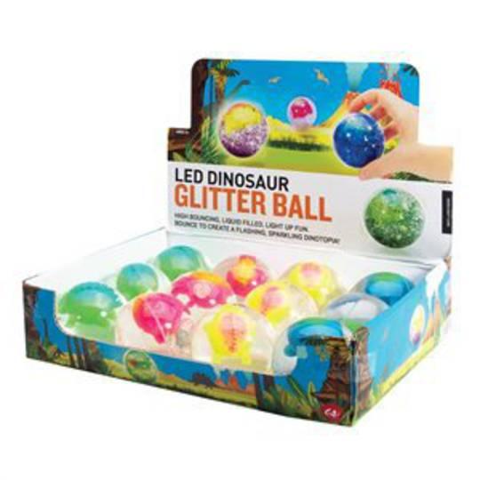 LED Dinosaur Glitter Ball