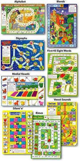 Eight Spelling Board Games