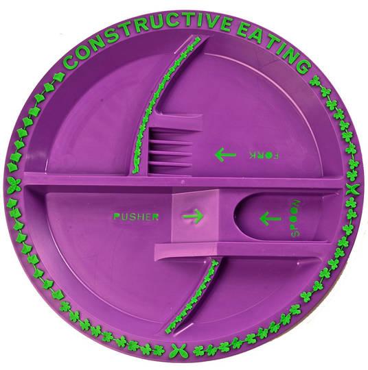 Garden Fairy Constructive Eating Kids Plate!